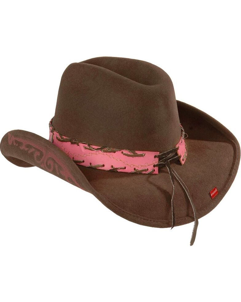 Bullhide Women's Annie Oakley Wool Hat, Chocolate, hi-res