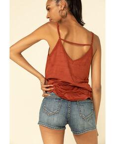 Panhandle Women's Medium High Rise Front Seam Shorts, Blue, hi-res
