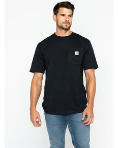 Carhartt Men's Solid Pocket Short Sleeve Work T-Shirt, Black, hi-res