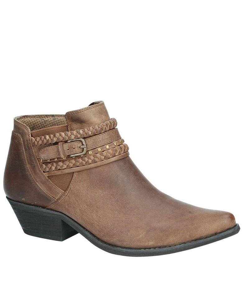 Smoky Mountain Women's Emma Fashion Booties - Snip Toe, Brown, hi-res