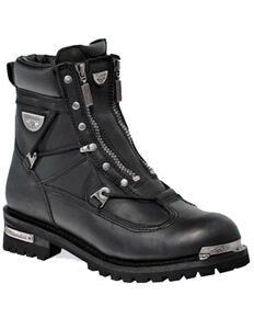 Milwaukee Motorcycle Clothing Co. Women's Throttle Moto Boots - Round Toe, Black, hi-res