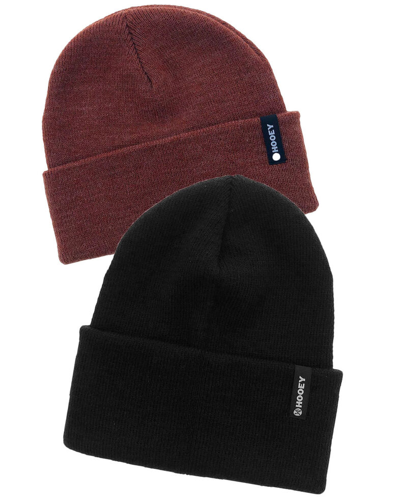 HOOey 2 Piece Label Work Beanie Pack , Multi, hi-res