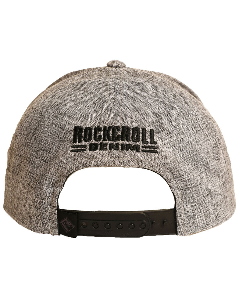 Rock & Roll Denim Men's 1946 Patch Ball Cap, Grey, hi-res