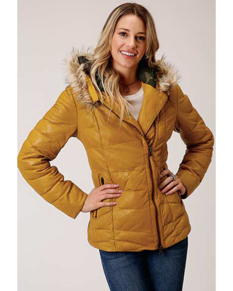 Stetson Women's Gold Yellow Quilted Jacket , Yellow, hi-res