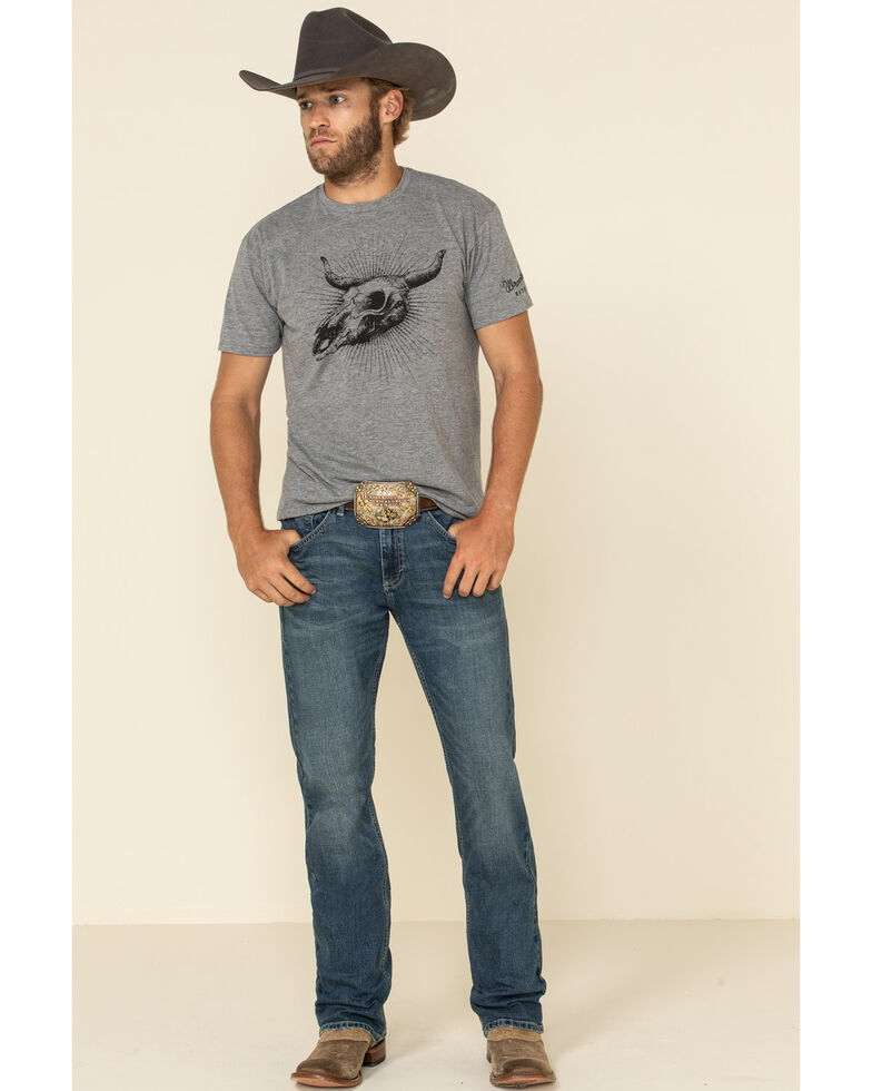 Wrangler 20X Men's No. 42 Caprock Canyon Stretch Slim Bootcut Jeans , Blue, hi-res