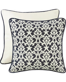 HiEnd Accents Navy and White Floral Euro Pillow , Multi, hi-res