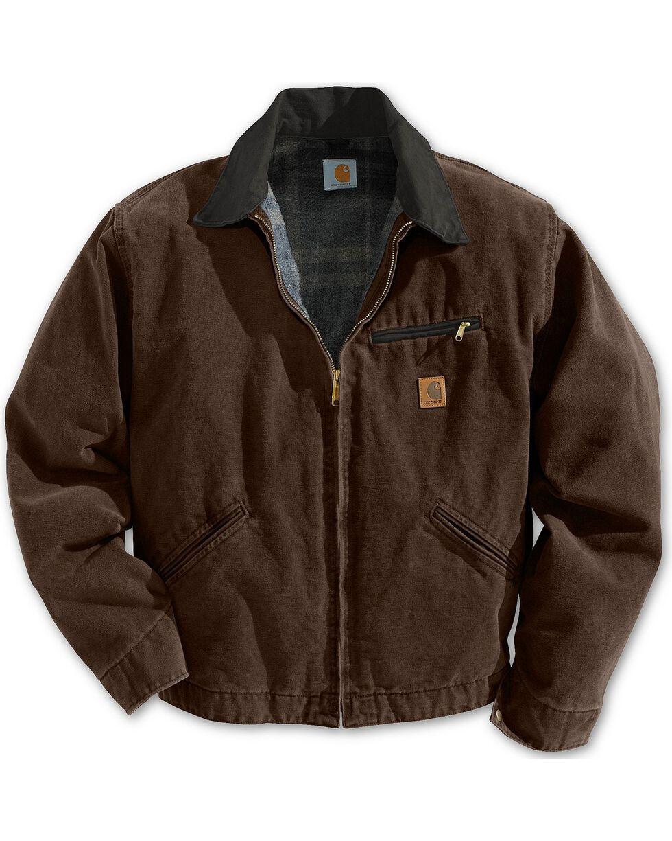 Carhartt Men's Sandstone Detroit Blanket Lined Jacket, Dark Brown, hi-res