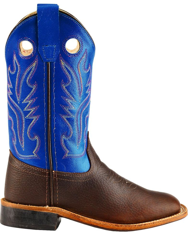 5ed103209de Old West Youth Boys' Thunder Cowboy Boots - Square Toe