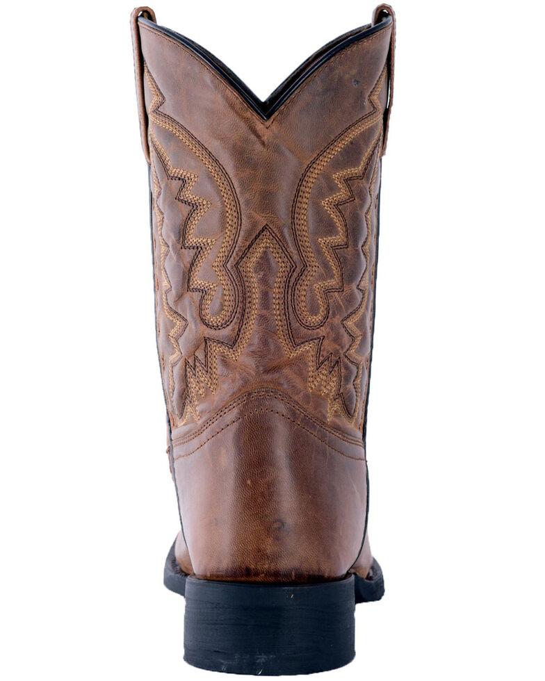 Laredo Men's Tan Crawford Roper Boots - Round Toe , Tan, hi-res