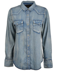 STS Ranchwear Women's Claira Denim Long Sleeve Western Shirt  , Blue, hi-res