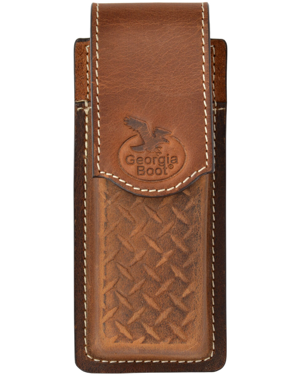 Georgia Men's Diamond Plate Embossed Knife Holder, Multi, hi-res