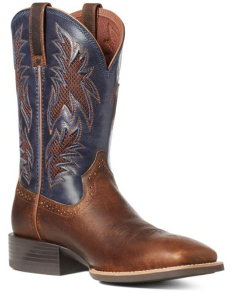 Ariat Men's Sport Cool Venttek Western Boots - Square Toe, Brown, hi-res