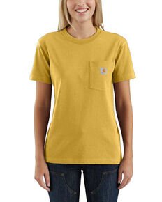 Carhartt Women's Gold Heather Short Sleeve Work T-Shirt, Gold, hi-res