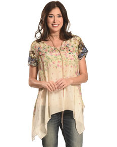 Johnny Was Women's Ziara Handkerchief Babydoll Shirt , Multi, hi-res