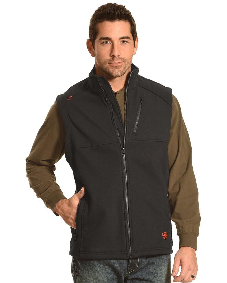 Ariat Men's FR Polartec Platform Vest, Black, hi-res