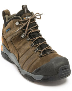 Hawx Men's Axis Waterproof Hiker Boots - Round Toe, Moss Green, hi-res