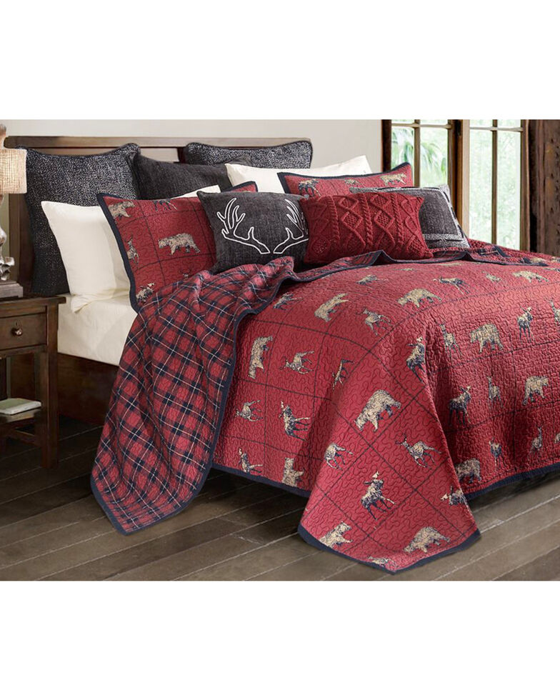 HiEnd Accents 2 Piece Woodland Plaid Quilt Set - Twin , Multi, hi-res