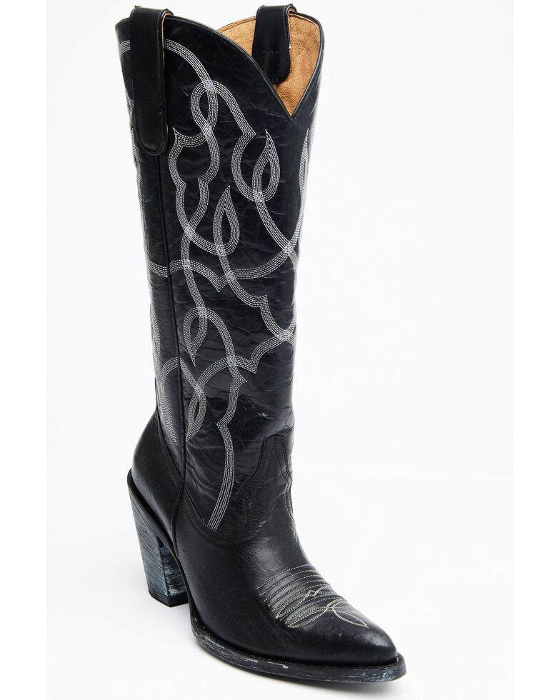 Idyllwind Women's Revenge Western Boots - Round Toe, Black, hi-res