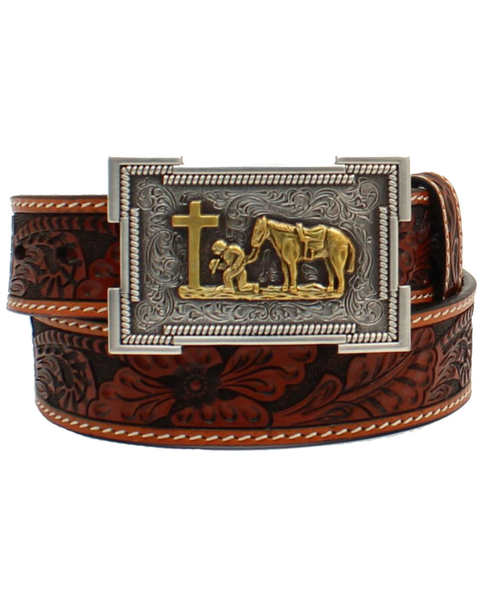 Stony West Western belt buckle Youth Boys Kids Rodeo Bucking Bull Rider Silver Gold tone