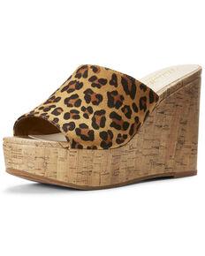 Ariat Women's Unbridled Layla Leopard Sandals, Leopard, hi-res