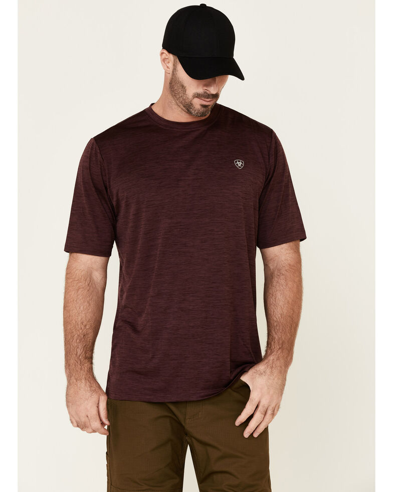 Ariat Men's Burgundy Eagle Charger Logo Graphic T-Shirt , Burgundy, hi-res