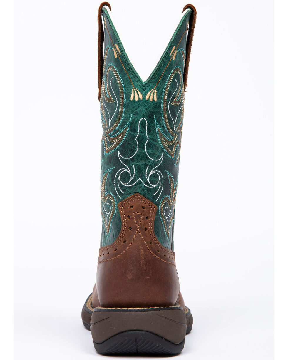 Shyanne Women's Xero Lite Turquoise Western Boots - Wide Square Toe, Brown, hi-res