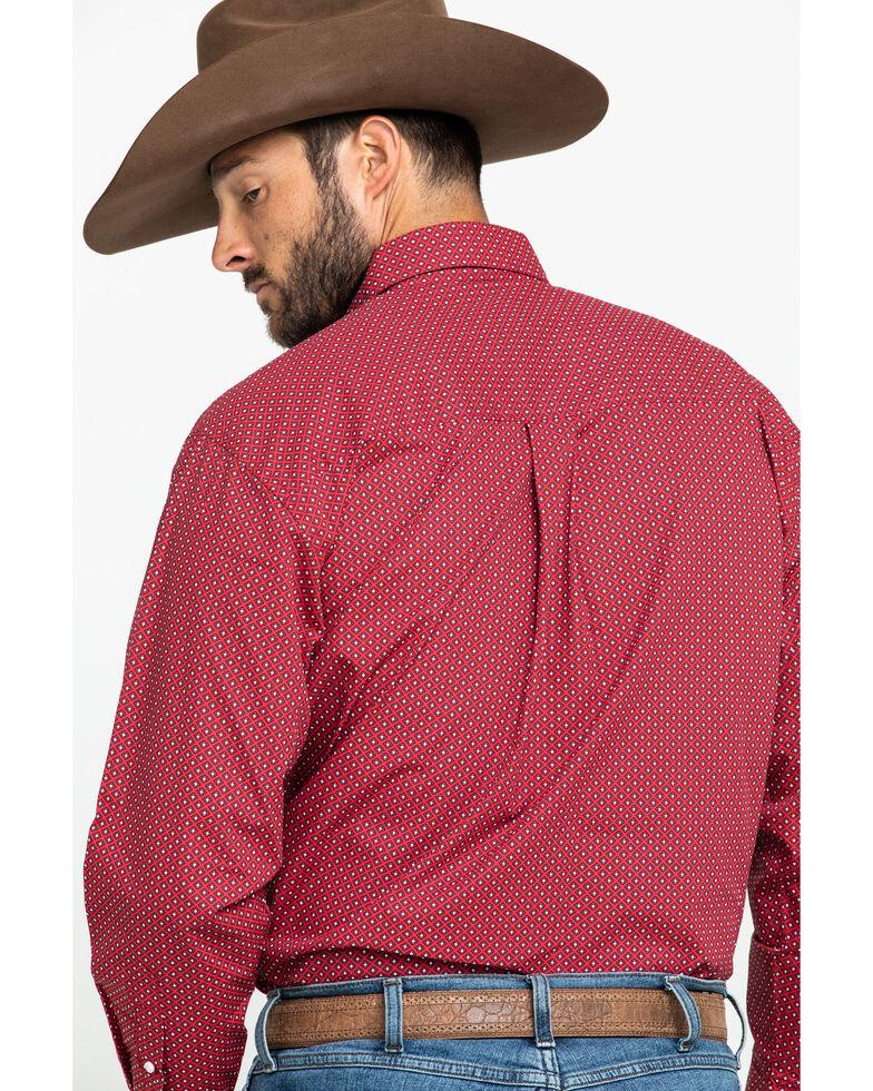 Ariat Men's Urbin Stretch Geo Print Long Sleeve Western Shirt , Burgundy, hi-res