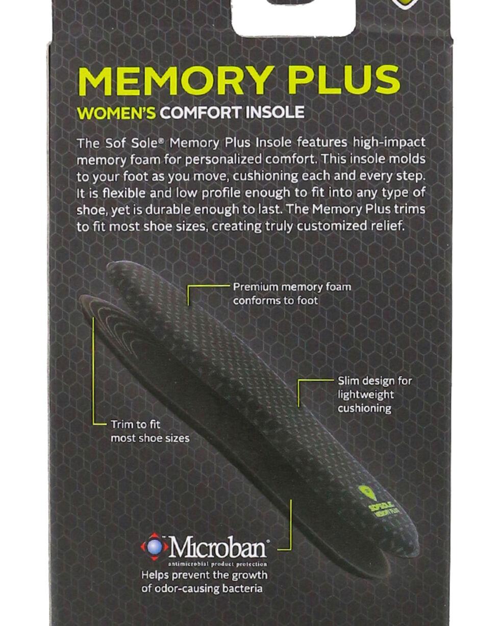 SofSole Women's Memory Plus Comfort Insoles, No Color, hi-res