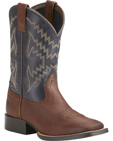 Ariat Youth Boys' Tycoon Western Boots, Brown, hi-res