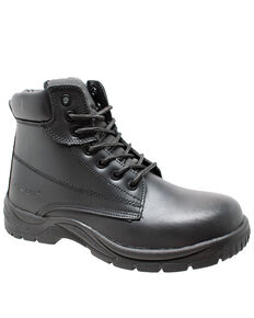 "Ad Tec Men's 6"" Lace-Up Work Boots - Composite Toe, Black, hi-res"