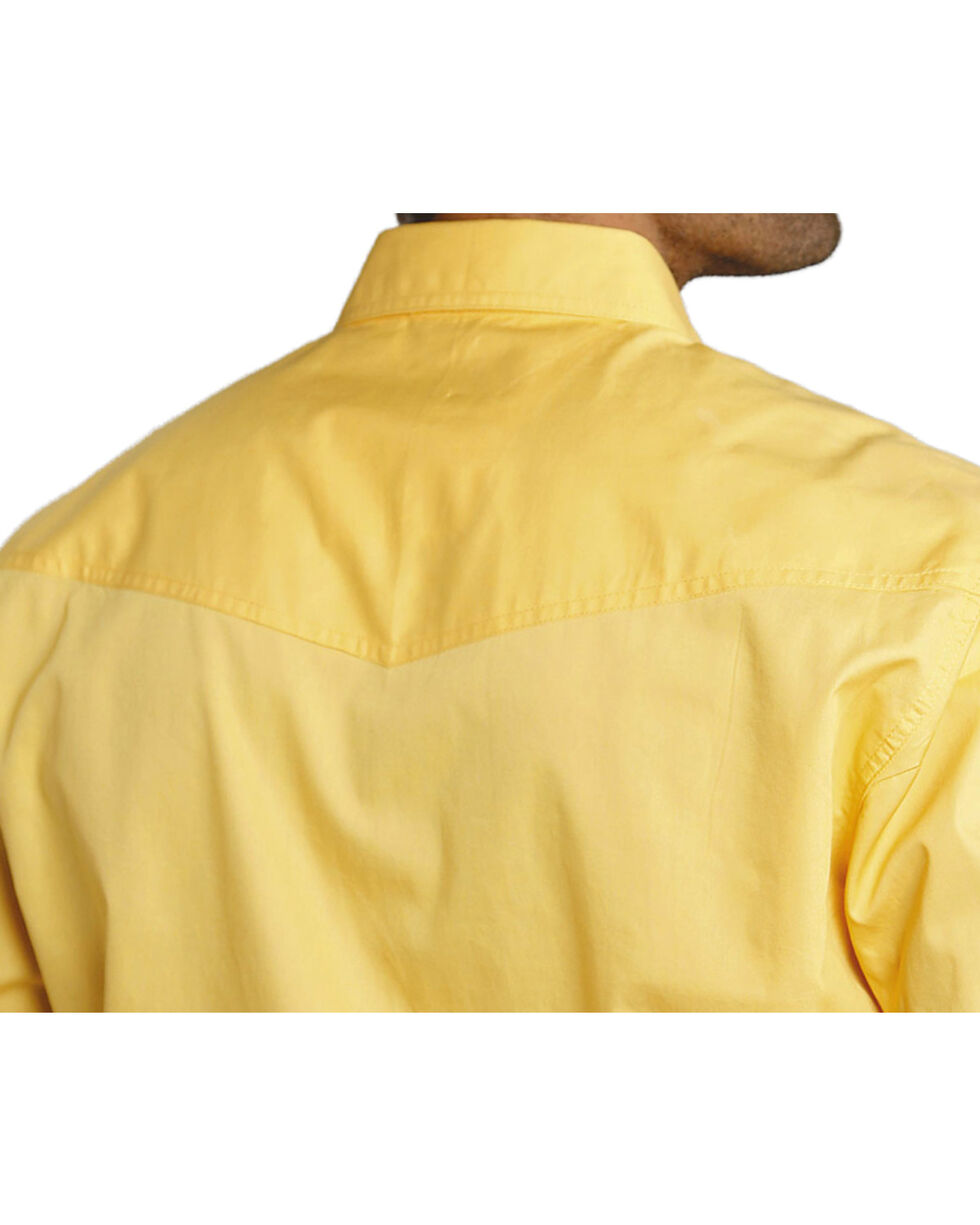 Roper Men's Amarillo Collection Western Shirt, Yellow, hi-res