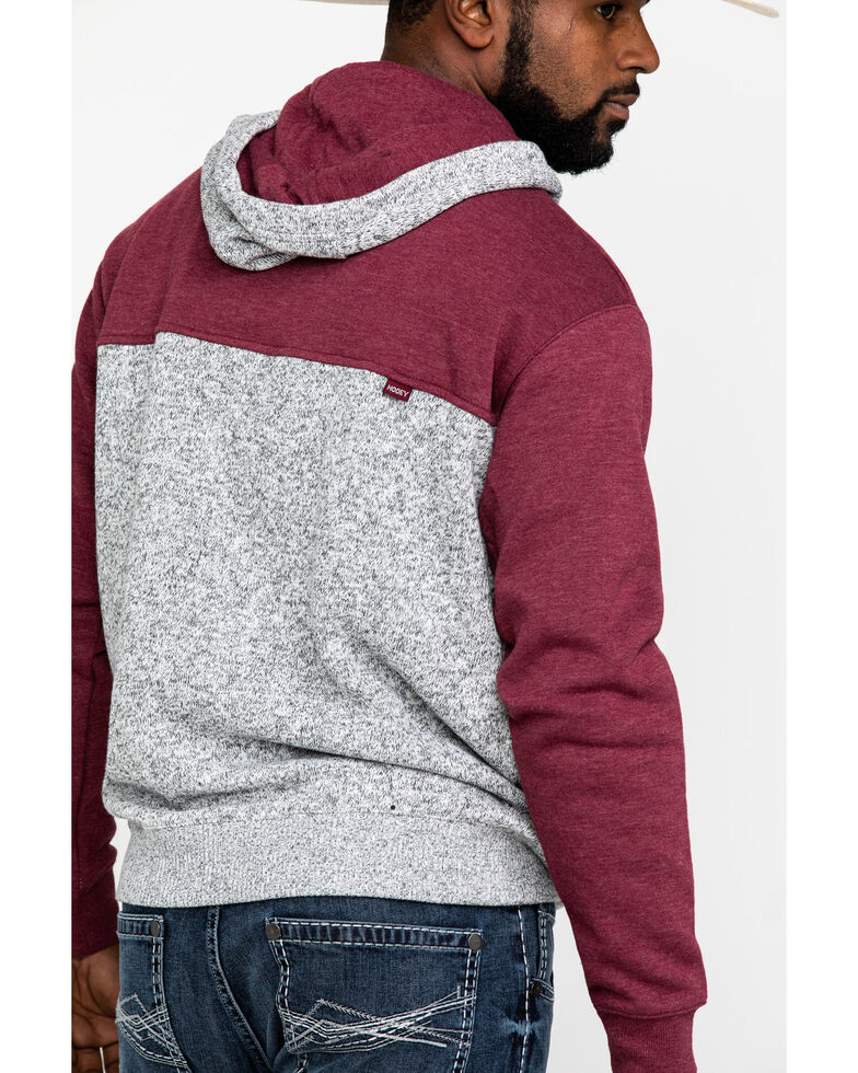 HOOey Men's Grey Jimmy Color Blocked Hooded Sweatshirt , Grey, hi-res
