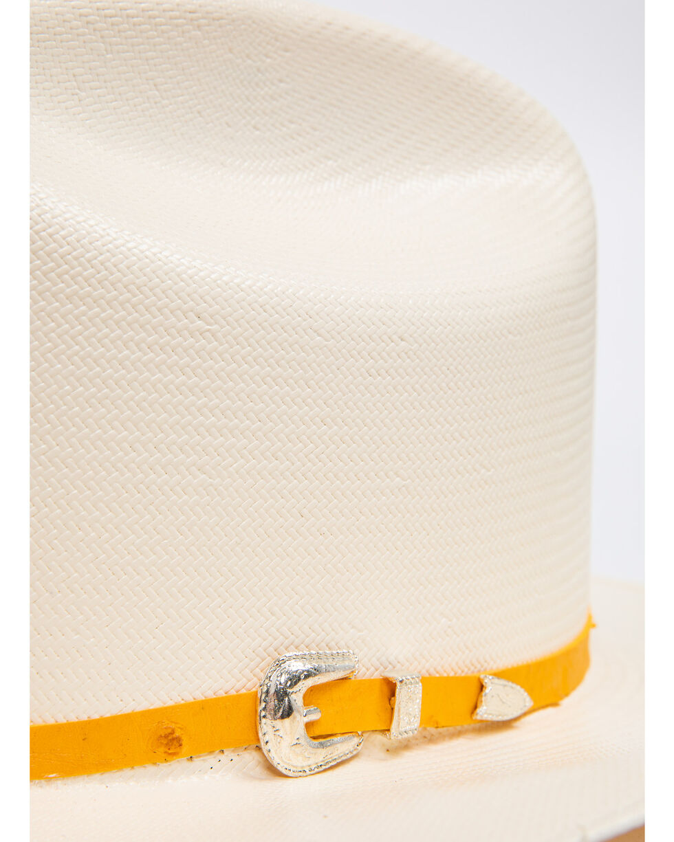 Cody James Men's Panama Faux Ostrich Buttercup Marlboro Cowboy Hat, Natural, hi-res