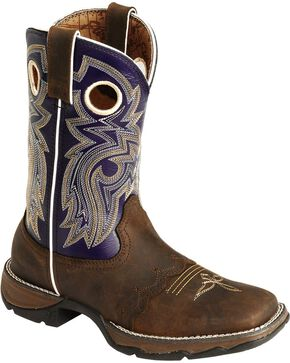 Durango Women's Flirt Blush n' Lace Boots, Distressed, hi-res