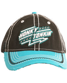 Rock & Roll Cowboy Men's Honky Tonkin Cap , Black, hi-res
