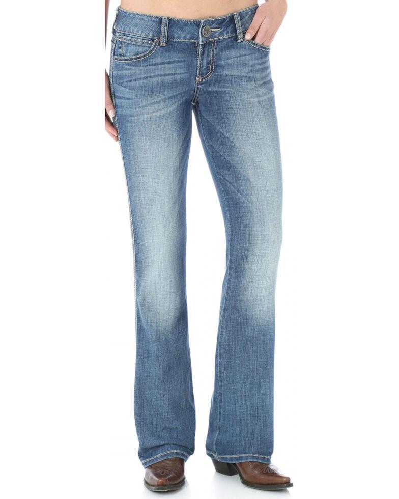Wrangler Women's Premium Patch Booty Up Sadie Jeans, Denim, hi-res