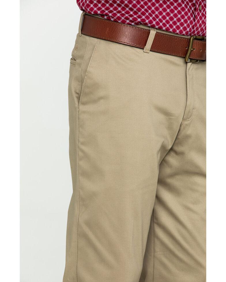 Wrangler Men's Khaki Casual Flat Front Western Pants , Beige/khaki, hi-res