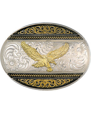 Montana Silversmiths 2-Tone Eagle Buckle, Multi, hi-res