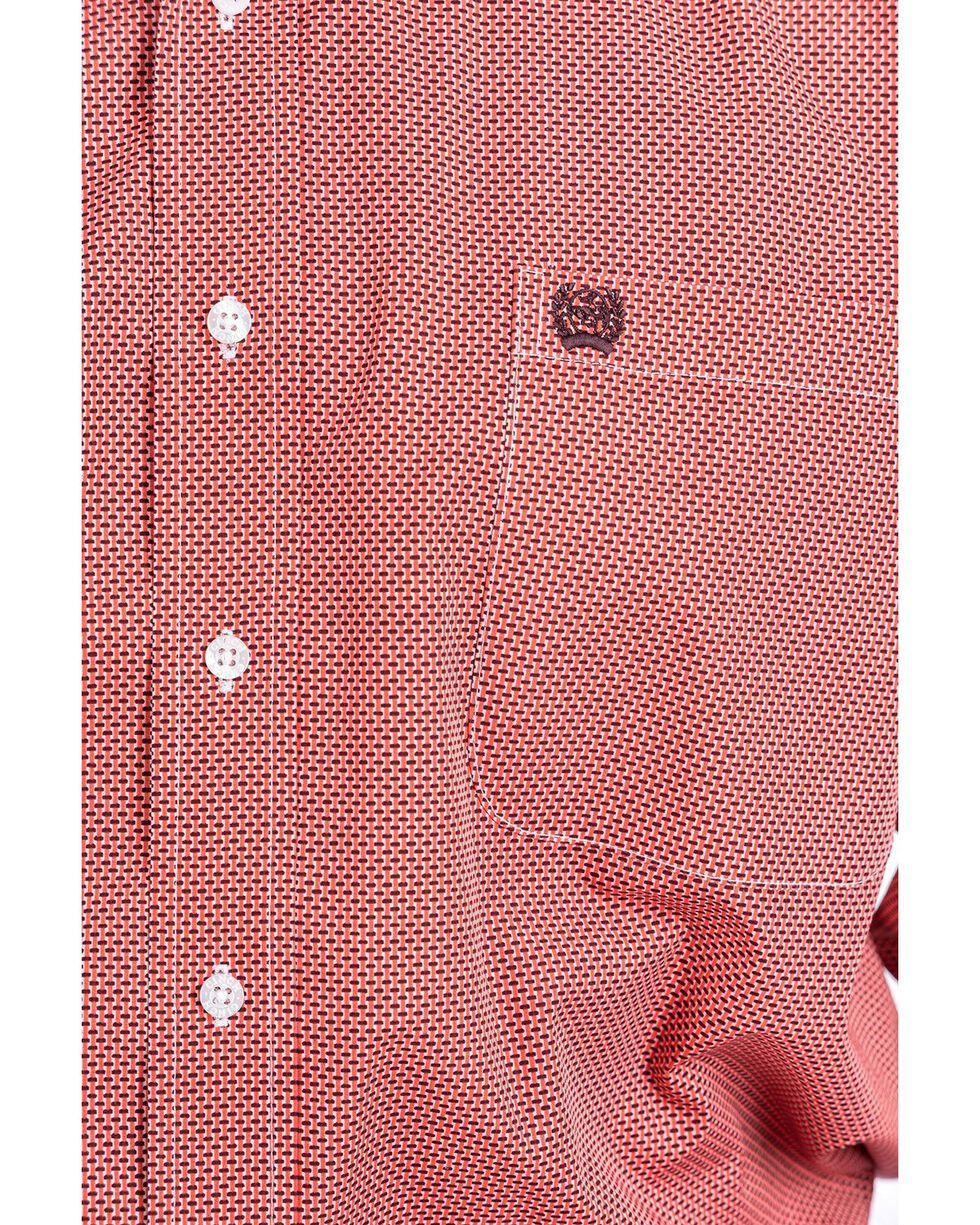 Cinch Men's Coral Geo Print Long Sleeve Western Shirt - Big , Coral, hi-res