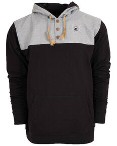 STS Ranchwear Men's Multi Solid Ryland Hooded Sweatshirt , Black, hi-res