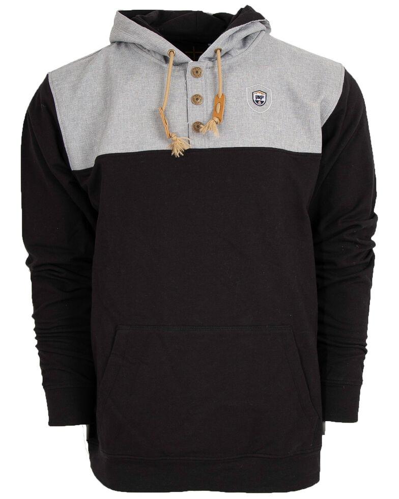STS Ranchwear Men's Multi Solid Ryland Hooded Sweatshirt , Black, hi-res
