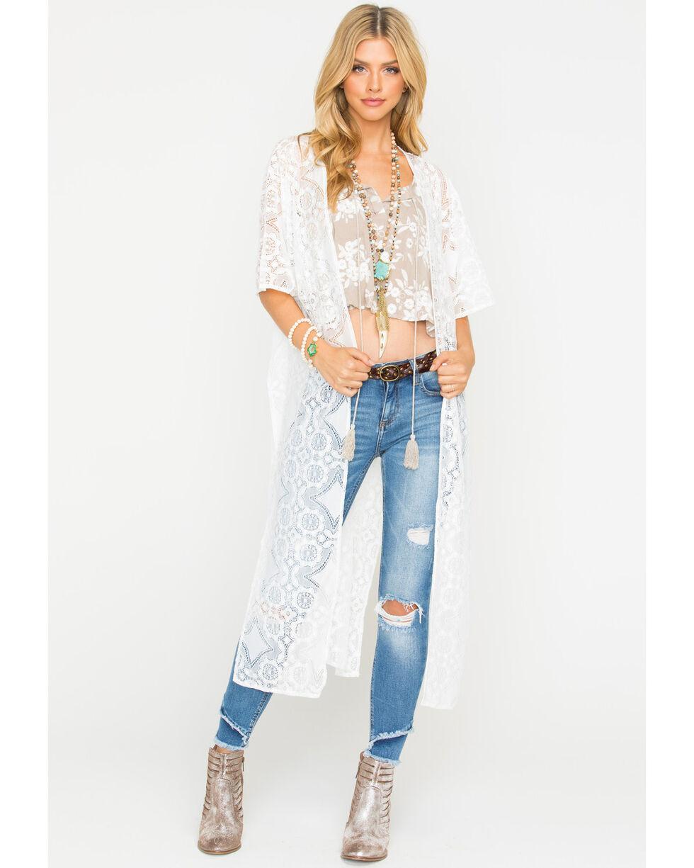 Sage the Label Women's Lia Kimono , White, hi-res