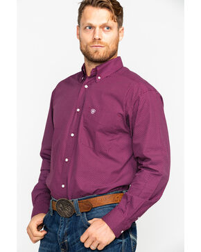 Ariat Men's Dalazar Print Long Sleeve Western Shirt, Purple, hi-res