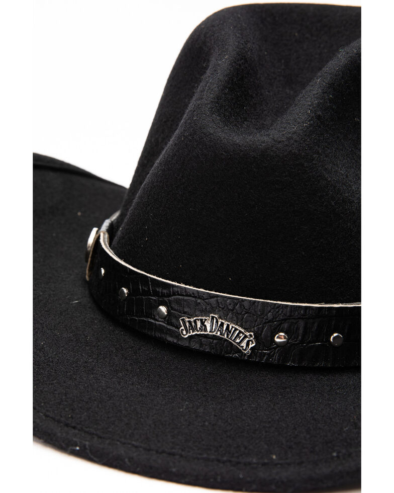 Jack Daniel's Men's Crushable Wool Gus Crown Hat , Black, hi-res