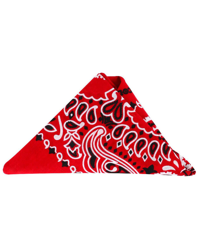 Cody James Men's Indigo Western Bandana, Red, hi-res
