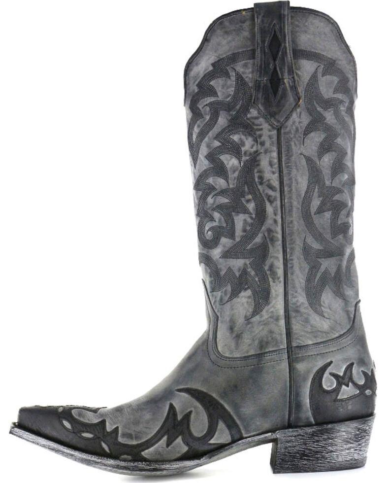 Moonshine Spirit Men's Snip Toe Western Boots, Black, hi-res