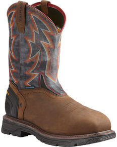 Ariat Men's Brown Catalyst VX Thunder Work Boots - Composite Toe , Brown, hi-res