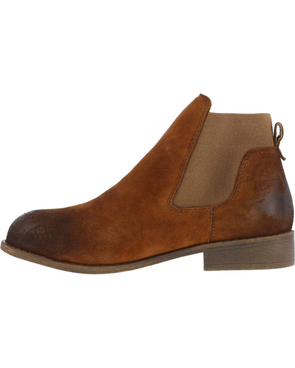 Rockport Women's Junction View Twin Gore Slip-on Boots - Steel Toe , Brown, hi-res