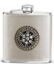 Demdaco Silver Embellished Flask , Silver, hi-res