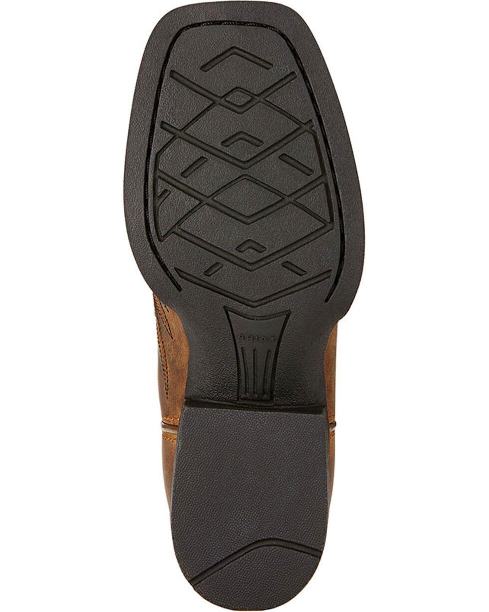Ariat Boys' Honor Cowboy Boots - Square Toe , Dark Brown, hi-res